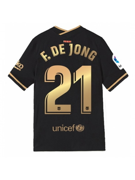 Детская футбольная форма Барселона F. DE JONG 21 выездная 2020-2021