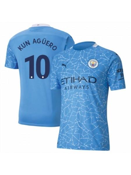 Детская футбольная форма  Манчестер Сити KUN AGUERO 10 домашняя 2020-2021