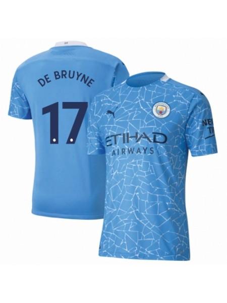 Детская футбольная форма  Манчестер Сити DE BRUYNE 17 домашняя 2020-2021