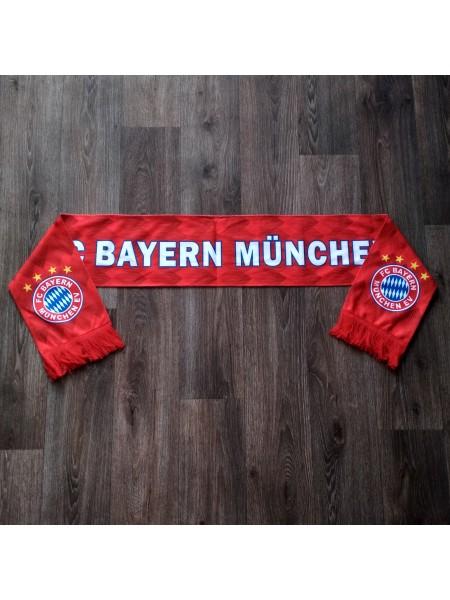 Футбольный шарф фанатский Бавария красный