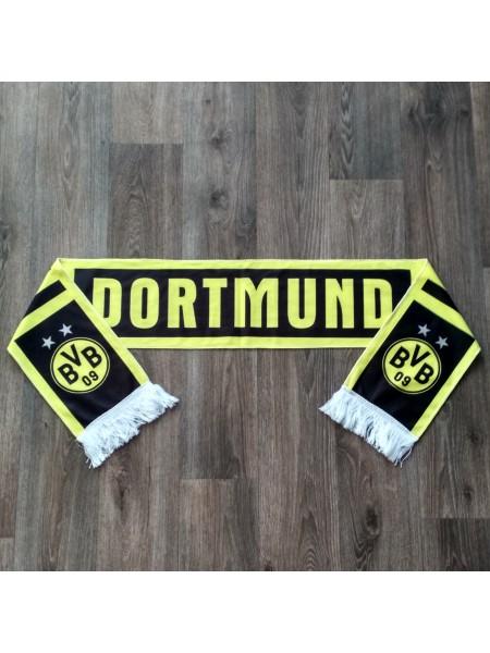 Футбольный шарф фанатский Боруссия Дортмунд желтый