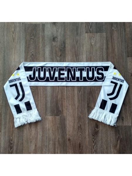 Футбольный шарф фанатский Ювентус белый