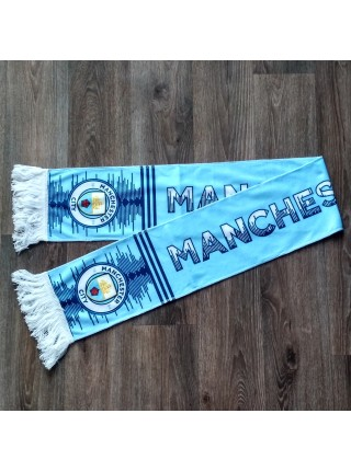 Футбольный шарф фанатский Манчестер Сити голубой