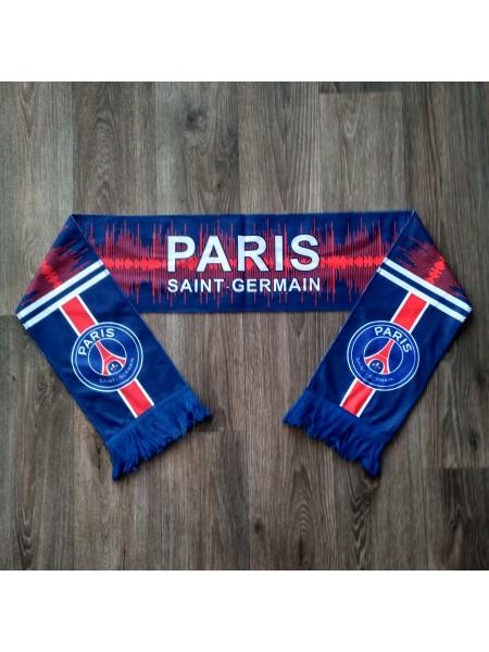 Футбольный шарф фанатский ПСЖ темно-синий