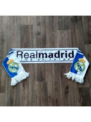 Футбольный шарф фанатский Реал Мадрид черно-сине-белый
