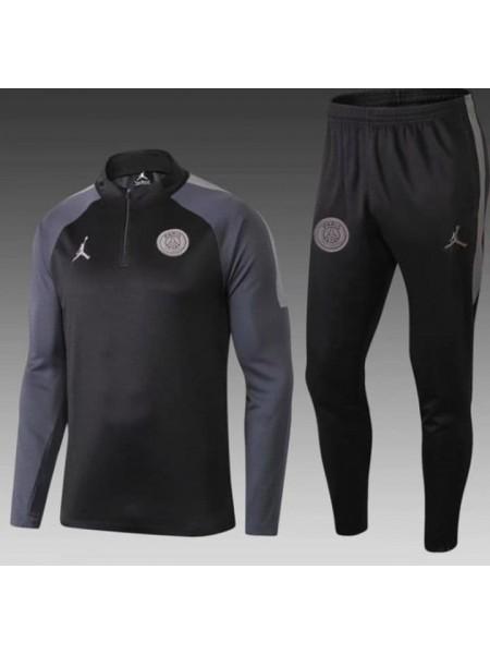 Тренировочный костюм ПСЖ серый 2018-2019
