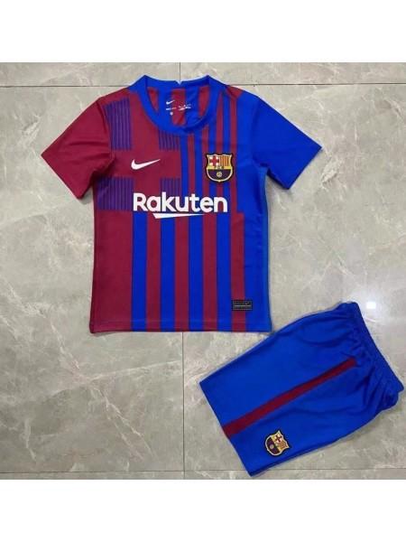Детская футбольная форма Барселона домашняя 2021-2022