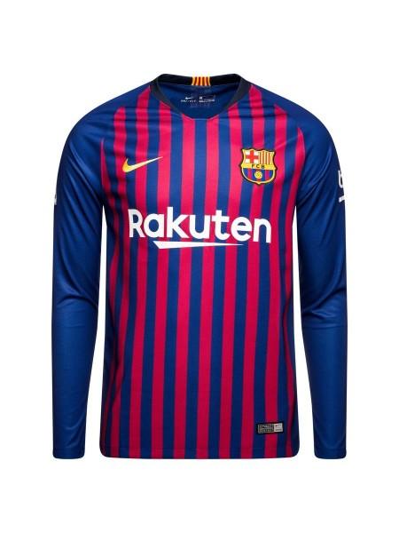 Футбольная форма Барселона домашняя 2018-2019 длинный рукав