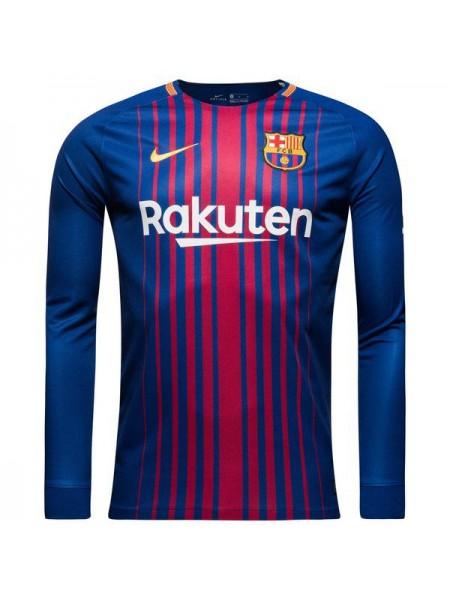 Футбольная форма Барселона домашняя 2017-2018 длинный рукав