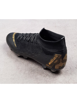 Бутсы Mercurial Superfly VI  Elite Anti-Clog SG-PRO Black