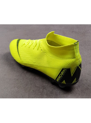 Бутсы Mercurial Superfly VI  Elite Anti-Clog SG-PRO Green