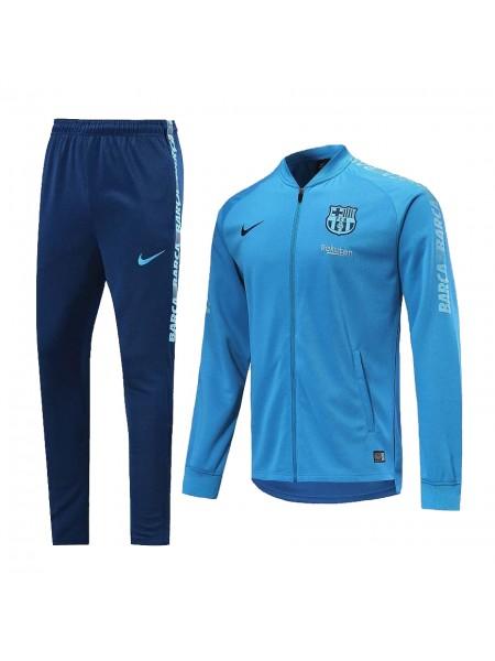 Спортивный костюм Барселона бирюзовый 2019-2020
