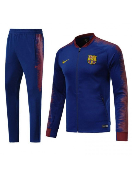 Детский спортивный костюм Барселона темно синий 2018-2019