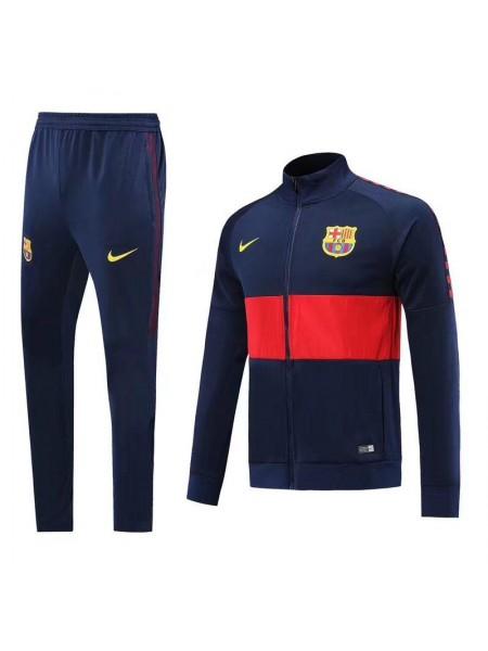 Спортивный костюм Барселона темно синий 2019-2020