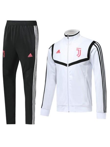 Детский спортивный костюм Ювентус белый с полосой  2019-2020