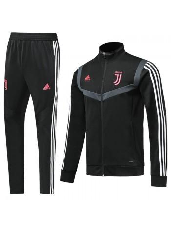 купить Спортивный костюм Ювентус черный с полосой 2019-2020