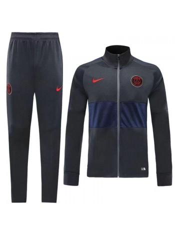 купить Спортивный костюм ПСЖ черный с синим 2019-2020
