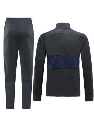 Спортивный костюм ПСЖ черный с синим 2019-2020
