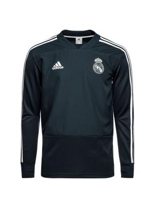 Детский тренировочный костюм Реал Мадрид темно-серый 2018-2019