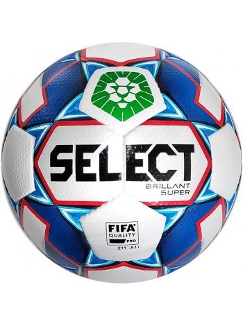 купить Мяч футбольный SELECT Brillant Super FIFA PFL (012) бело синий р.5