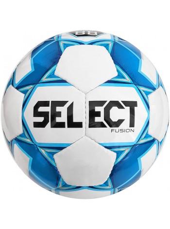 купить Мяч футбольный SELECT Fusion (012) бело голубой, размер 4