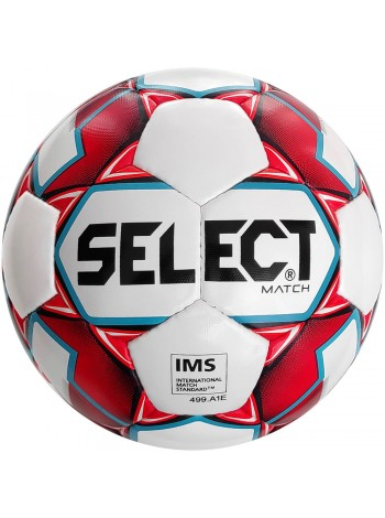 купить Мяч футбольный SELECT Match IMS (018) бело красный р.5
