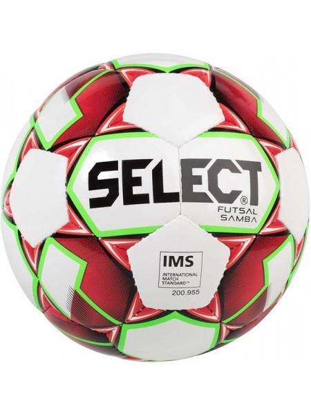 Мяч футзальный Select Futsal Samba IMS NEW (301) бело красный