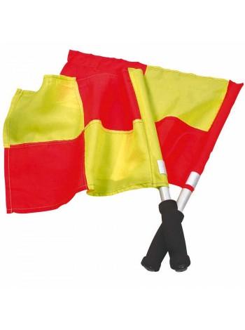 купить Флажок Лайнсмена Аматорский SELECT Lineman's flag Classic, 2 флага (231) желто-красный