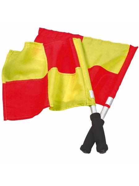Флажок Лайнсмена Аматорский SELECT Lineman's flag Classic, 2 флага (231) желто-красный