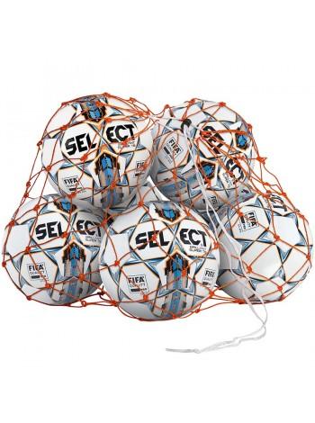 купить Сетка для мячей SELECT BALL NET (002) оранжевый, 6-8 мячей