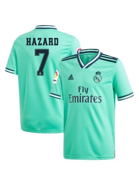 Детская футбольная форма Реал Мадрид  HAZARD 7 резервная 2019-2020 фанатская версия