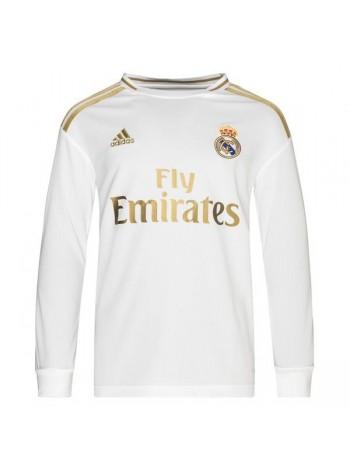 купить Детская футбольная форма с длинным рукавом Реал Мадрид  домашняя 2019-2020