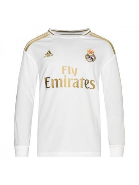 Детская футбольная форма с длинным рукавом Реал Мадрид  домашняя 2019-2020