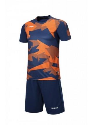 Футбольная форма Europaw 022 темно сине-оранжевая