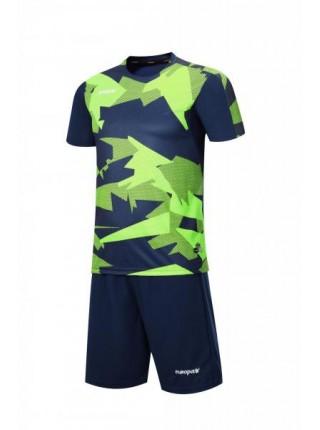 Футбольная форма Europaw 022 темно сине-салатовая