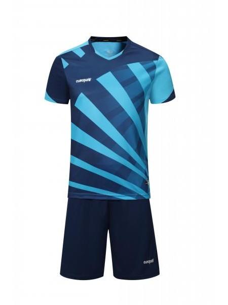 Футбольная форма Europaw 023 темно сине-голубая