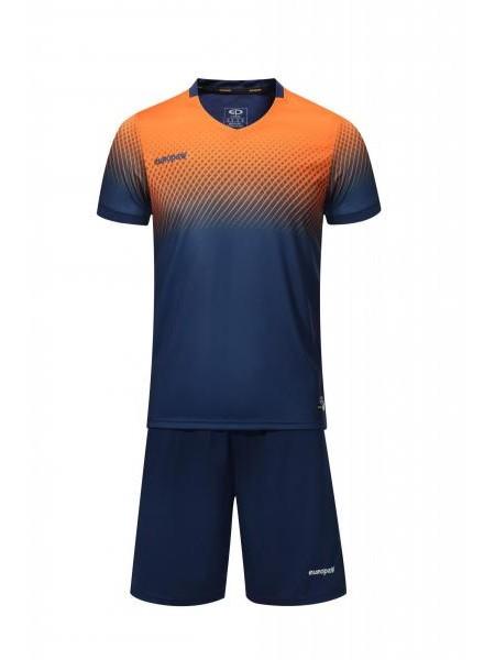 Футбольная форма Europaw 024 темно сине-оранжевая