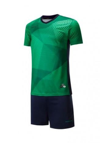 купить Футбольная форма Europaw 025 зелено-темно синяя