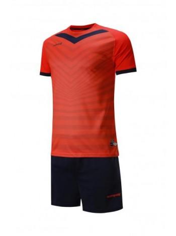 купить Футбольная форма Europaw 026  кораллово-темно синяя