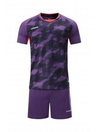 Футбольная форма Europaw 027 фиолетово-коралловая