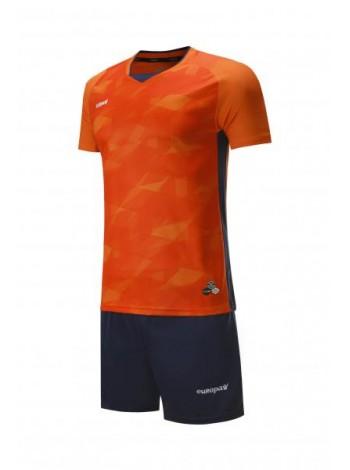 купить Футбольная форма Europaw 027 оранжево-темно синяя
