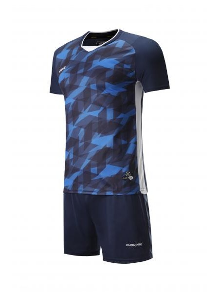 Футбольная форма Europaw 027 темно сине-синяя