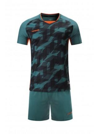 Футбольная форма Europaw 027  темно зелено-оранжевая