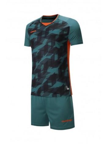 купить Футбольная форма Europaw 027  темно зелено-оранжевая