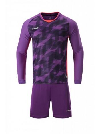 купить Футбольная форма с длинным рукавом Europaw 027 фиолетово-коралловая