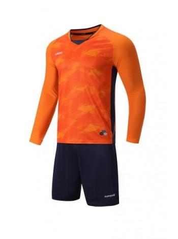 купить Футбольная форма с длинным рукавом Europaw 027 оранжево-темно синяя