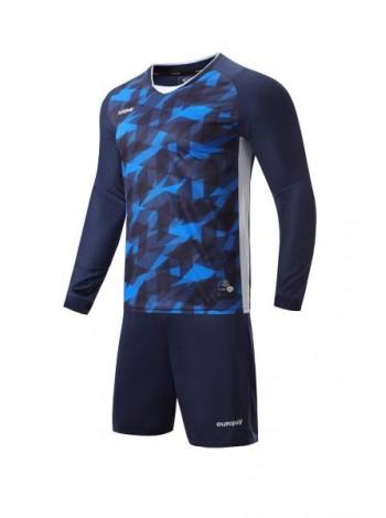 купить Футбольная форма с длинным рукавом Europaw 027 темно сине-синяя