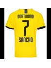 купить Детская футбольная форма Боруссия Дортмунд SANCHO 7 домашняя 2019-2020