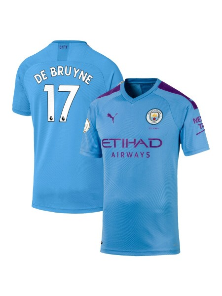 Детская футбольная форма Манчестер Сити DE BRUYNE 17 домашняя 2019-2020