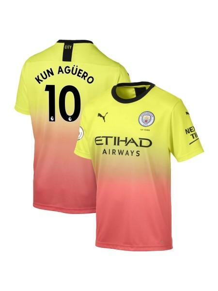 Детская футбольная форма Манчестер Сити KUN AGÜERO 10 резервная 2019-2020